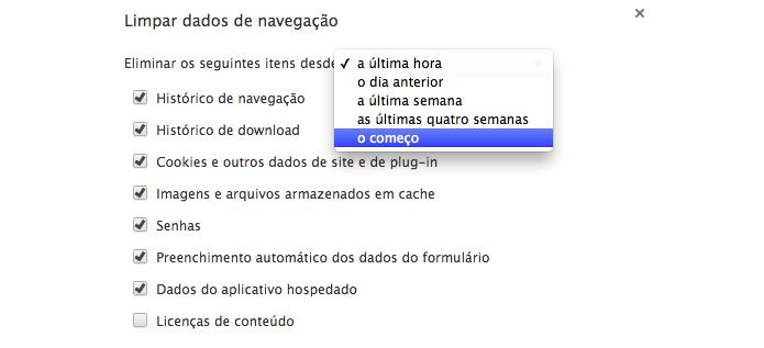 Limpe seus dados de navegação sempre que possível (Foto: Reprodução/Paulo Alves)