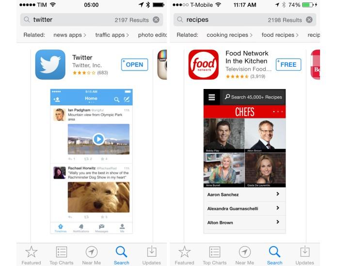 App Store passará a exibir novas sugestões de palavras-chave (Foto: Reprodução/Apple Store)