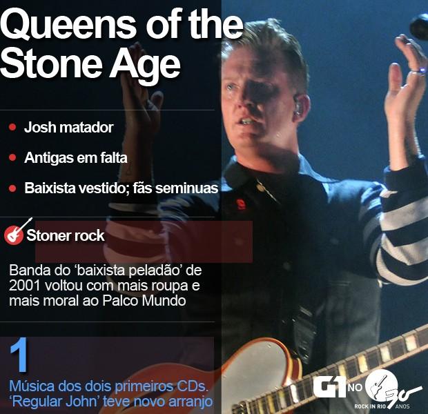 Cartela Queens of the Stone Age (Foto: Alexandre Durão/G1)