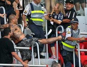 confusão vasco x corinthians mané garrincha (Foto: Dida Rodrigues/Agência Estado)
