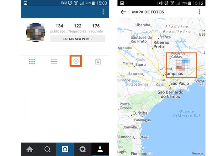 Veja o Mapa de Fotos nos perfil de seus amigos do Instagram (Foto: Reprodução/Barbara Mannara)