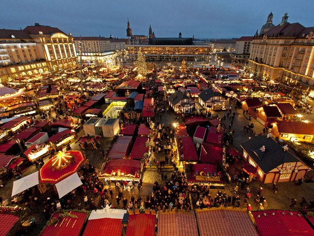 Mercado de natal de Dresden (Foto: Robert Michale/AFP Photo/Germany Out)