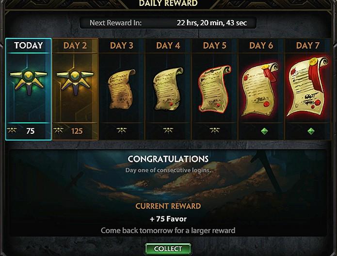Acesso o jogo diariamente para ganhar as recompensas (Foto: Reprodução)