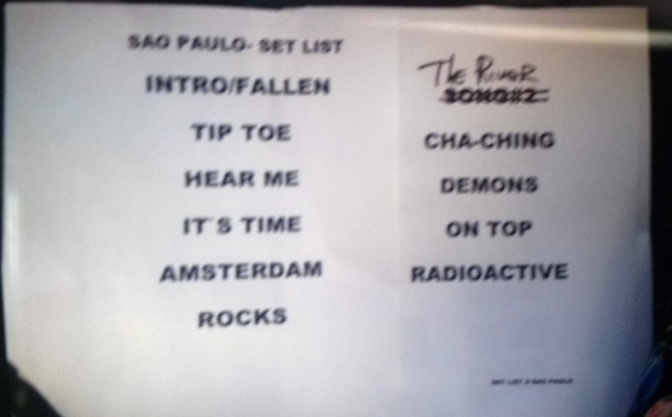 Setlist Imagine Dragons (Foto: Multishow)