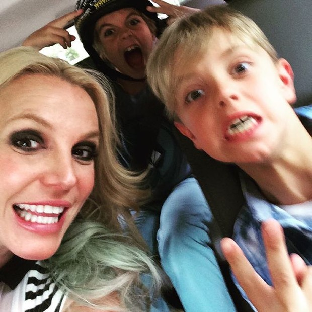 Britney Spears e filhos (Foto: Reprodução/Instagram)