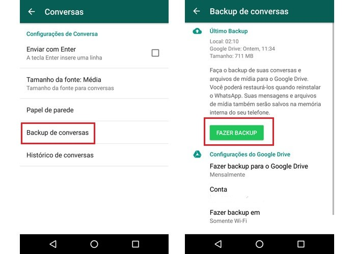 como baixar backup do whatsapp