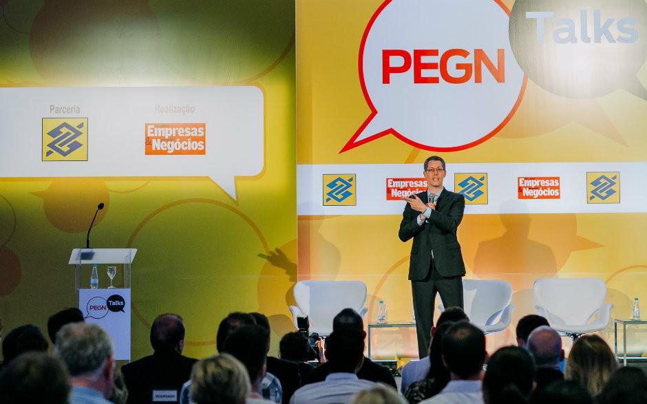 Márcio Iavelberg, da Blue Numbers, dá palestra na segunda edição do PEGN Talks (Foto: Renan Radici)