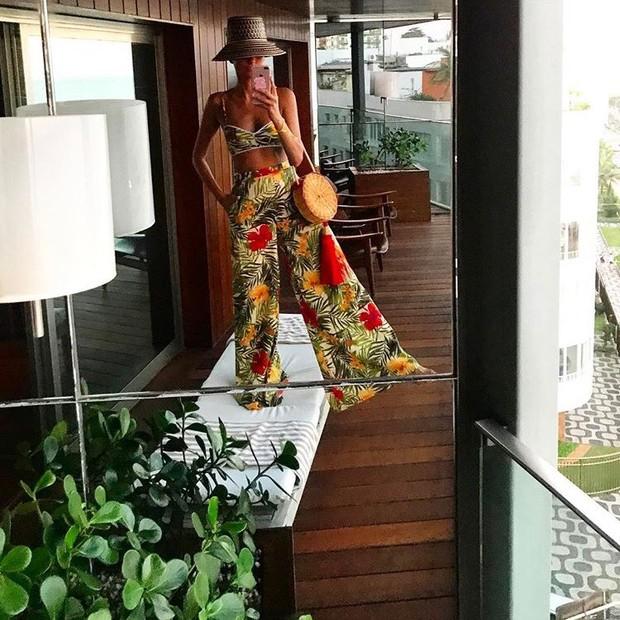 Giovanna Battaglia no Hotel Fasano (Foto: Instagram/Reprodução)