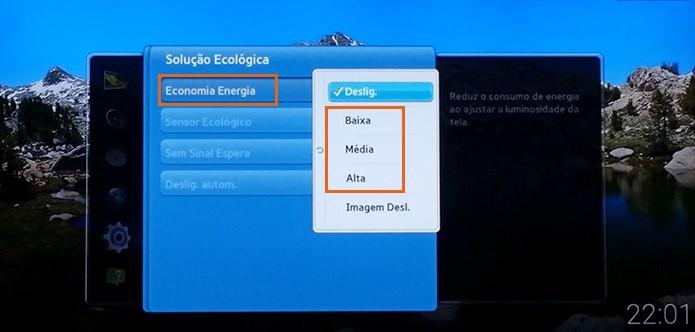 Veja os ajustes de Economia de Energia na Smart TV Samsung (Foto: Reprodução/Barbara Mannara)