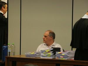 Ricardo Neis depõe nesta quinta-feira (24) em julgamento popular em Porto Alegre (Foto: Hygino Vasconcellos/G1)