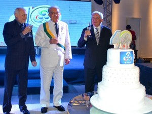 Festa comemorou os 40 anos de instalação da TV Acre. (Foto: Thiago Cabral / G1)