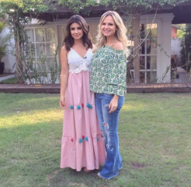 Paula Fernandes e Eliana (Foto: Reprodução)