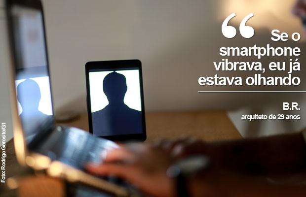 FRASE-VICIADOS EM TECNOLOGIA (Foto: Rodrigo Gorosito/G1)