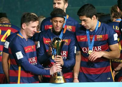 Messi Neymar Suárez Barcelona (Foto: AP)