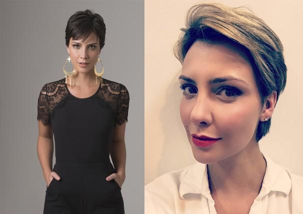 Camila Rodrigues: antes e depois (Foto: Divulgação)