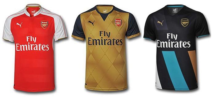 Camisas Champions arsenal