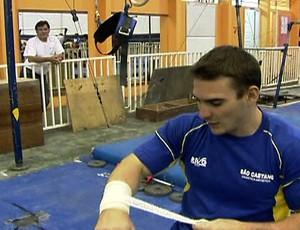 Arthur Zanetti ginástica argola (Foto: Reprodução SporTV)