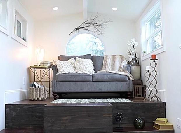 O lar tem apenas 18 m² (Foto: Reprodução/Tiny Heriloom)