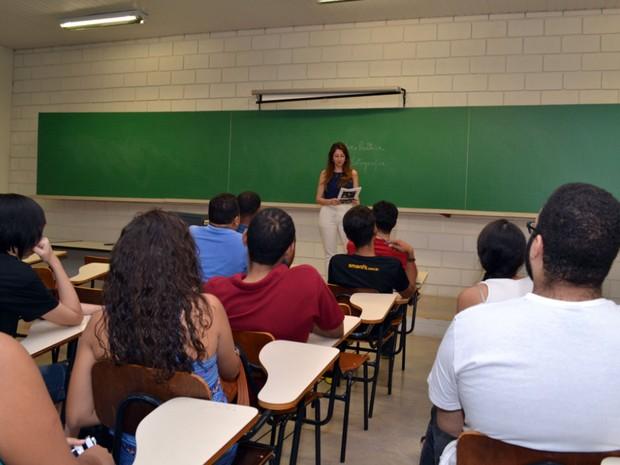 Sala de aulas da Anhanguera Educacional (Foto: Lucas Veiga/Divulgação)