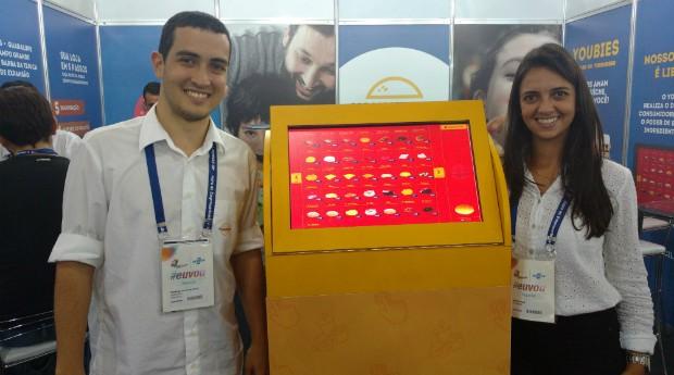 Rodrigo Malca e Raiana Farias, da Youburger (Foto: Adriano Lira)
