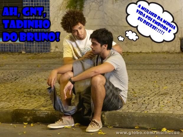 Tadinho, o moreno ficou muito mal por causa que a funkeira viajou... (Foto: Malhação/ TV Globo)