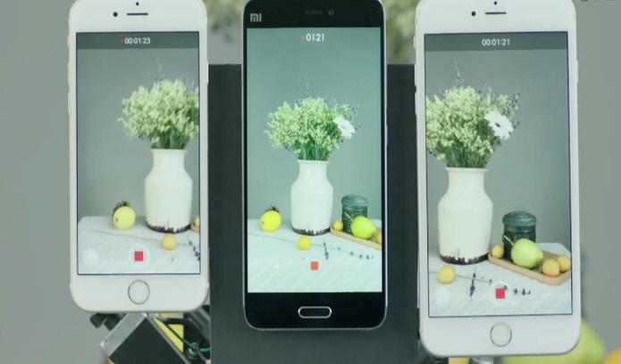 Mi 5 promete vídeos com melhor estabilidade quando comparado aos iPhones 6S e 6S Plus (Foto: Reprodução /Youtube)