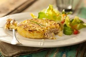 Batata-doce rosti recheada com patê de atum