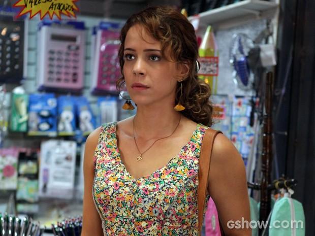 Leandra deixou os cabelos crescerem para encarna heroína (Foto: Pedro Curi/TV Globo)