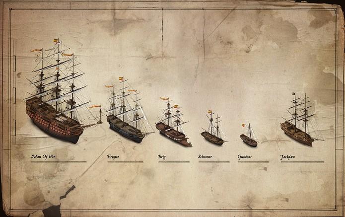 Tipos de Navio em Assassin's Creed IV: Black Flag (Foto: Reprodução/Divulgação)