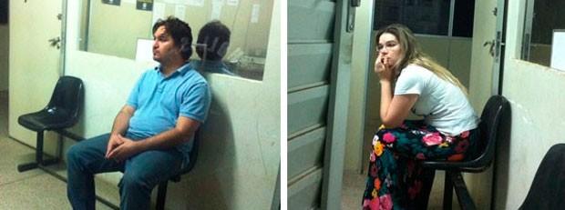 Empresário Tarcísio Nóbrega de Mello Júnior e a mulher dele, a advogada Rafaela Pereira Gurgel Silva de Mello, foram presos durante a operação Binário Perfeito, no RN (Foto: Igor Jácome/G1)