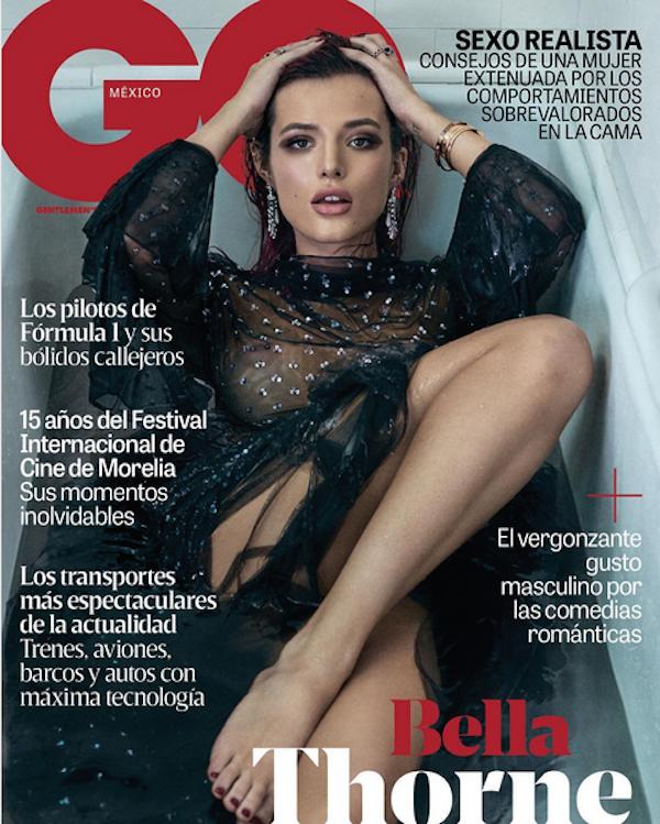 A atriz Bella Thorne na capa da mais recente edição da versão norte-americana da revista GQ (Foto: Instagram)