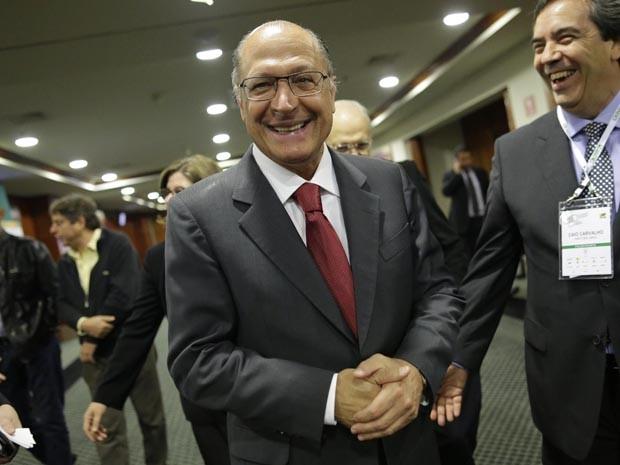 Governador Geraldo Alckmin foi ao Congresso Brasileiro do Agronegócio (Foto: Nelson Antoine/Fotoarena/Estadão Conteúdo)