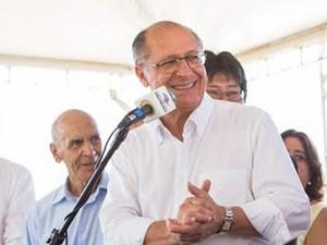 Governador Geraldo Alckmin esteve na região neste sábado (14) (Foto: A2 Fotografia/Diogo Moreira/ Divulgação)