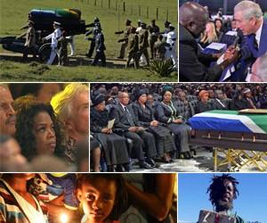 Veja 130 imagens do adeus ao  líder sul-africano Nelson Mandela (AP/AFP/Reuters)