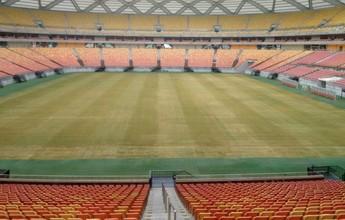 Após pragas e falta de manutenção, gramado da Arena AM é revitalizado