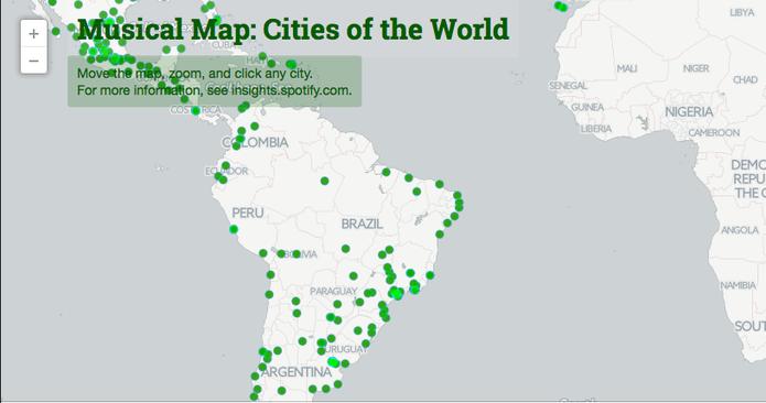 Spotify lana musical map veja mais tocadas no rj sp e no mundo musical map mostra os artistas mais ouvidos em cada cidade incluindo brasil foto gumiabroncs Image collections
