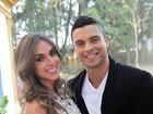 Nicole Bahls e Gustavo Salyer vão a casamento em São Paulo