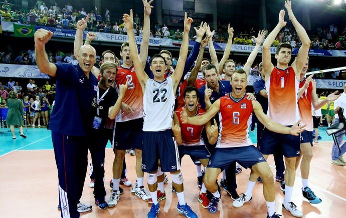 vôlei EUA campeão liga mundial (Foto: FIVB)