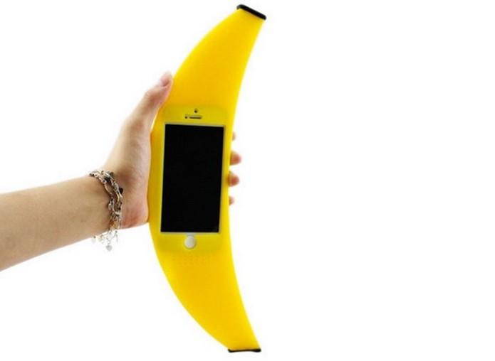 Case de banana é compatível com iPhones 5 e 5s (Foto: Reprodução/Ali Express)