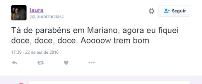 Mariano lindo bombou (Foto: Reprodução)