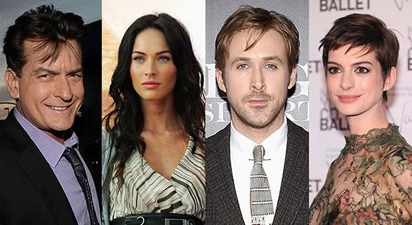 Charlie Sheen, Megan Fox, Ryan Gosling, Anne Hathaway (Foto: Getty Images)
