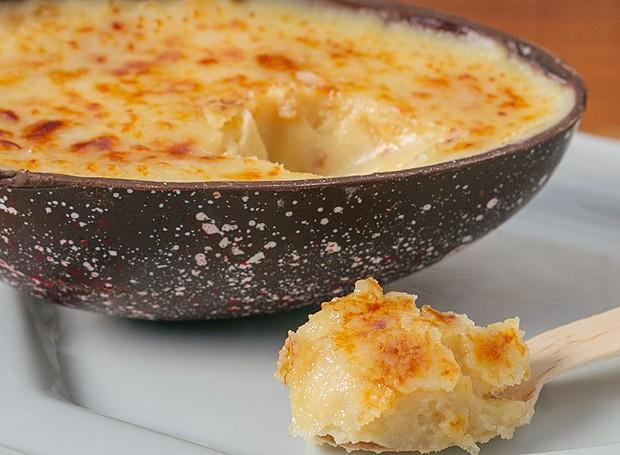 A Addolcire lança ovo com o nome da casa. É para comer de colher, recheado com ganache de crème brûlée e limão siciliano. R$ 68 | 350 gramas (Foto: Divulgação)