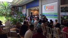 Evento realizou exames gratuitos para diagnosticar o glaucoma (TV Anhanguera)