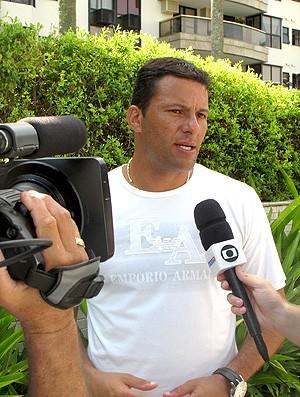 Washington em entrevista para o Esporte Espetacular (Foto: Alexandre Sattamini / Globoesporte)