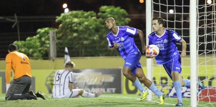 Gol de Pipico, bragantino x macaé (Foto: Tiago Ferreira / Macaé Esporte)