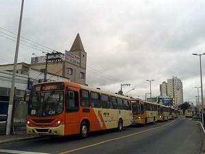 Ônibus em Juiz de Fora (Foto: Jéssyka Prata/G1)