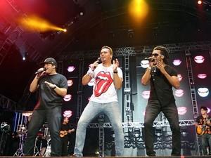 O grupo Sorriso Maroto faz show na Festa do Peão de Americana (Foto: Jefferson Bernardes/Agência Preview, Divulgação)