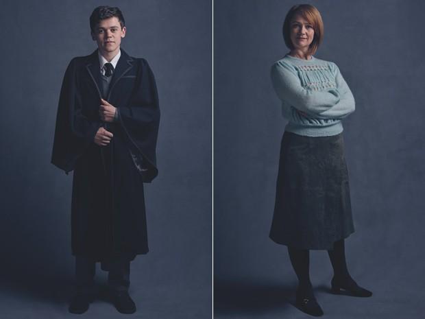 Sam Clemmett (Albus Severus Potter) e Poppy Miller (Gina Potter) da peça 'Harry Potter and the Cursed Child' (Foto: Divulgação/Harry Potter Theatrical Productions)