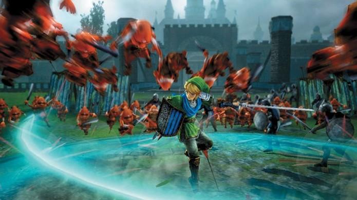 Link enfrentará dezenas de inimigos como em outros títulos da série Dynasty Warriors (Foto: famitsu.com)