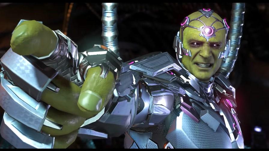 Grande vilão de 'Injustice 2', Brainiac fará de tudo para acabar com a paz na Terra (Foto: Divulgação)